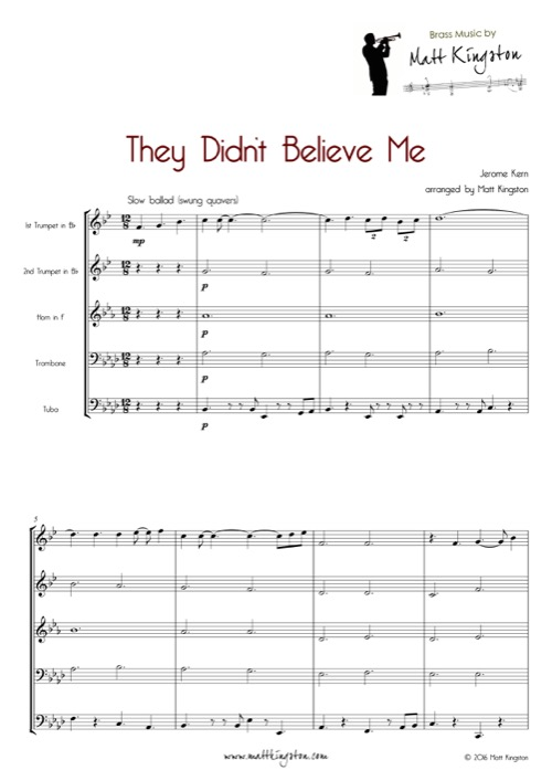 Jazz and Dixieland for Brass Quintet | PDF sheet music by