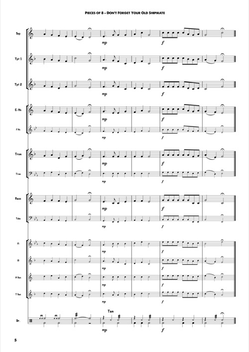 pieces of eight pirate pieces for beginner brass training band pdf sheet music by matt. Black Bedroom Furniture Sets. Home Design Ideas